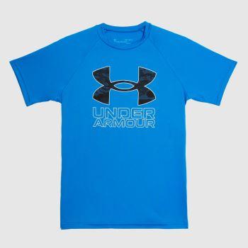 Under Armour Blue Boys Tech Hybrid Print T-shirt Boys Tops