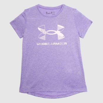 Under Armour Lilac Girls Tech Big Logo T-shirt Girls Tops