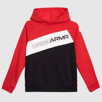 Under Armour Black & Red Boys Graphic Hoodie Boys Tops