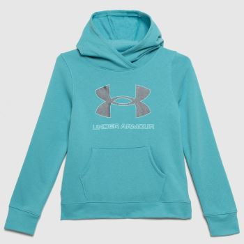 Under Armour Turquoise Girls Rival Fleece Hoodie Girls Tops