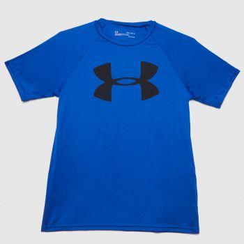 Under Armour Navy & Black Boys Tech Logo T-shirt Boys Tops
