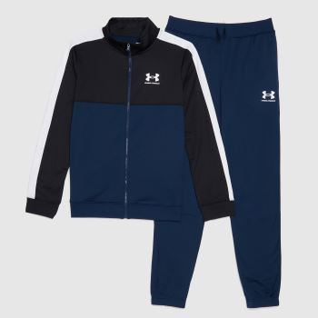 Under Armour Navy Cb Knit Track Suit Boys Tops