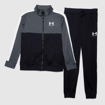 Under Armour Schwarz-Weiß Boys Cb Knit Track Suit T-Shirts für Jungen