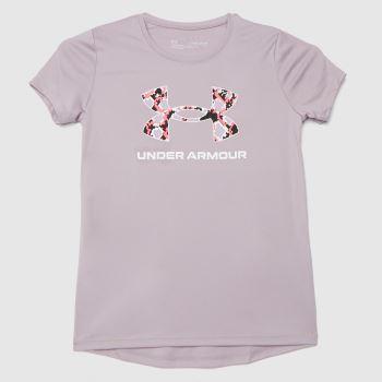 Under Armour Pale Pink Girls Tech T-shirt Girls Tops