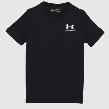 Under Armour Black & White Boys Sportstyle T-shirt Boys Tops