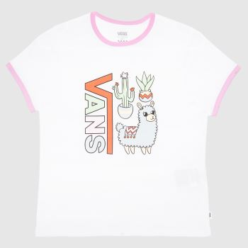 Vans White & Purple Girls Llama Lover T-shirt Girls Tops