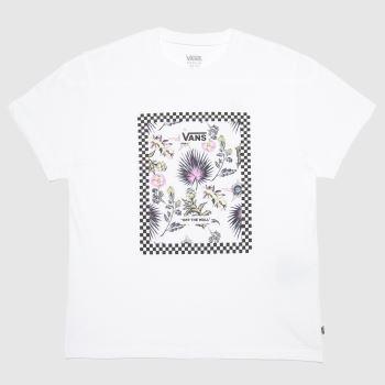Vans White & Purple Girls Border Floral T-shirt Girls Tops