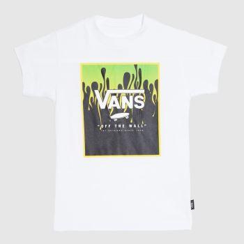 Vans White & Green Kids Print Box T-shirt Boys Tops