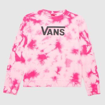 Vans Pink Girls Hypno Crew Girls Tops