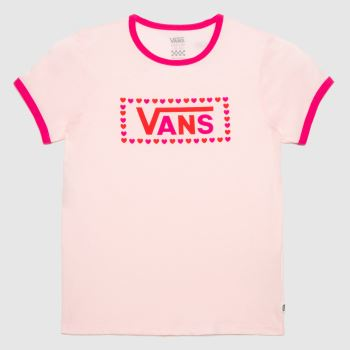 Vans Pale Pink Girls Lola T-shirt Girls Tops