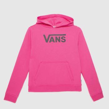 Vans Pink Girls Flying V Hoodie Girls Tops