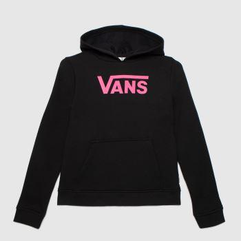 Vans Black & pink Girls Flying V Hoodie Girls Tops