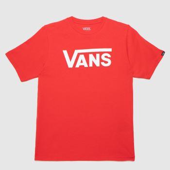 Vans Red Boys Classic T-shirt Boys Tops