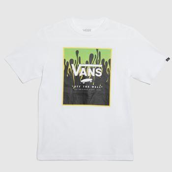 Vans White & Green Boys Print Box T-shirt Boys Tops