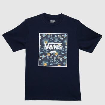 Vans Navy & White Boys Print Box T-shirt Boys Tops