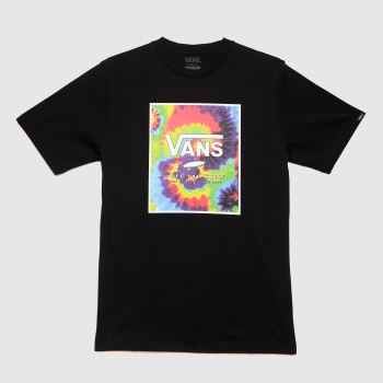 Vans Black Boys Print Box T-shirt Boys Tops