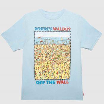 Vans Blue & Yellow Wheres Waldo T-shirt Boys Tops