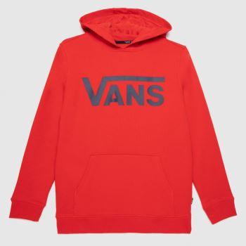 Vans Red Boys Classic Hoodie Boys Tops