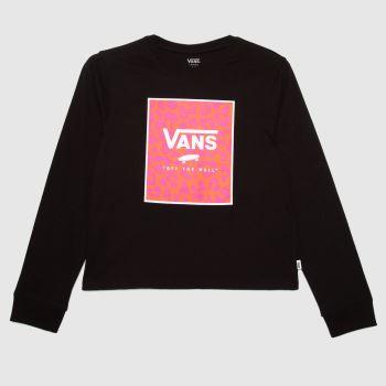 Vans Black & pink Girls Zoo Box Ls Girls Tops