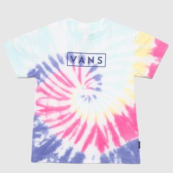 Vans Multi Kids Tie Dye Easy Box T-shirt Boys Tops