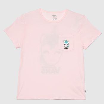 Vans Pale Pink Girls Disco Unicorn T-shirt Girls Tops
