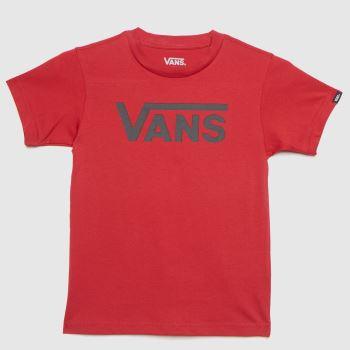 Vans Burgundy Kids Classic T-shirt Boys Tops