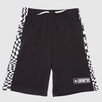Converse Black & White Boys Checker Print Shorts Boys Bottoms