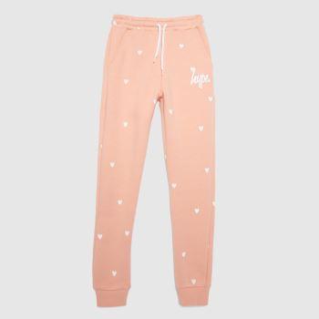 Hype Pale Pink Girls Legging Polka Heart Girls Bottoms
