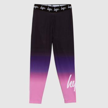 Hype Black & Purple Girls Leggings Sweetshop Girls Bottoms