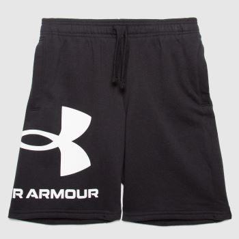 Under Armour Black & White Boys Rival Fleece Short Boys Bottoms