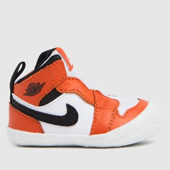 Nike Jordan Brown & White 1 Crib Bootie Boys Baby