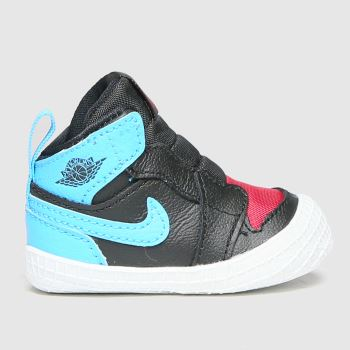 Nike Jordan Black and blue 1 Crib Bootie Boys Baby