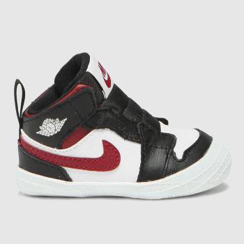 Nike Jordan Black & White 1 Crib Bootie Boys Baby