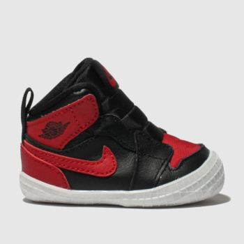Nike Jordan Black & Red JORDAN 1 CRIB BOOTIE Boys Baby