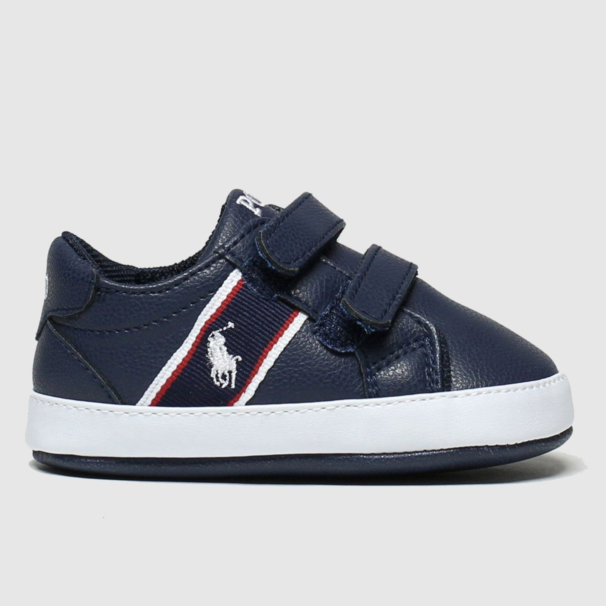 Polo Ralph Lauren Navy & White Quigley Crib Shoes Baby