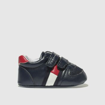 Tommy Hilfiger Navy & Red Velcro Classic Crib Boys Baby