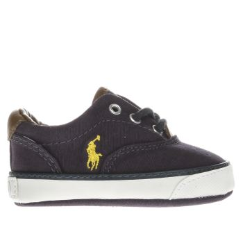 POLO RALPH LAUREN NAVY VAUGHN II CRIB BOYS BABY TRAINERS