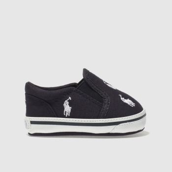 POLO RALPH LAUREN NAVY & WHITE BAL HARBOUR SHOES BABY