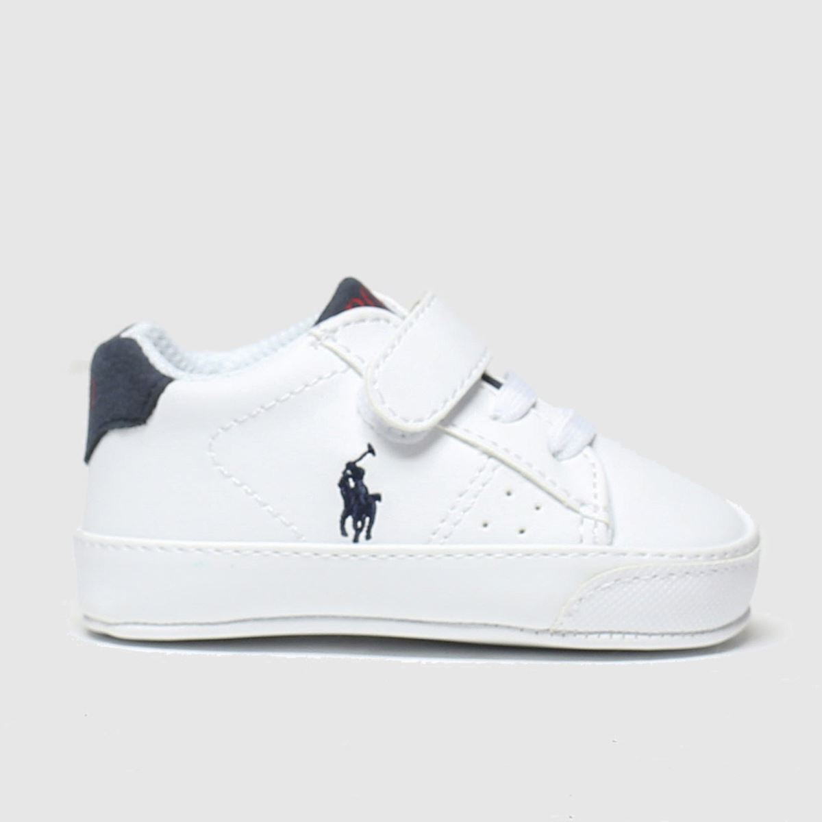 Polo Ralph Lauren White & Navy Theron Shoes Baby