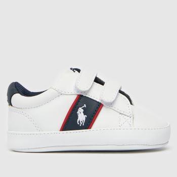 Polo Ralph Lauren White & Navy Oakview Ii Ez Crib Boys Baby