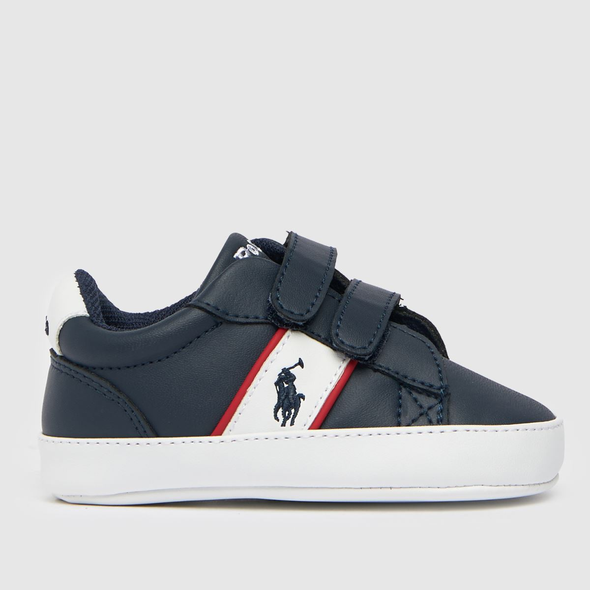 Polo Ralph Lauren Navy & White Oakview Ii Ez Crib Shoes Baby