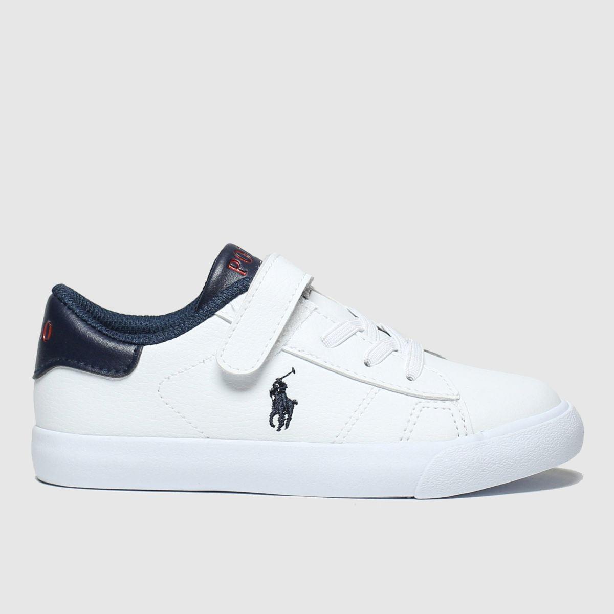 Polo Ralph Lauren White & Navy Pierce Ii Boots Toddler