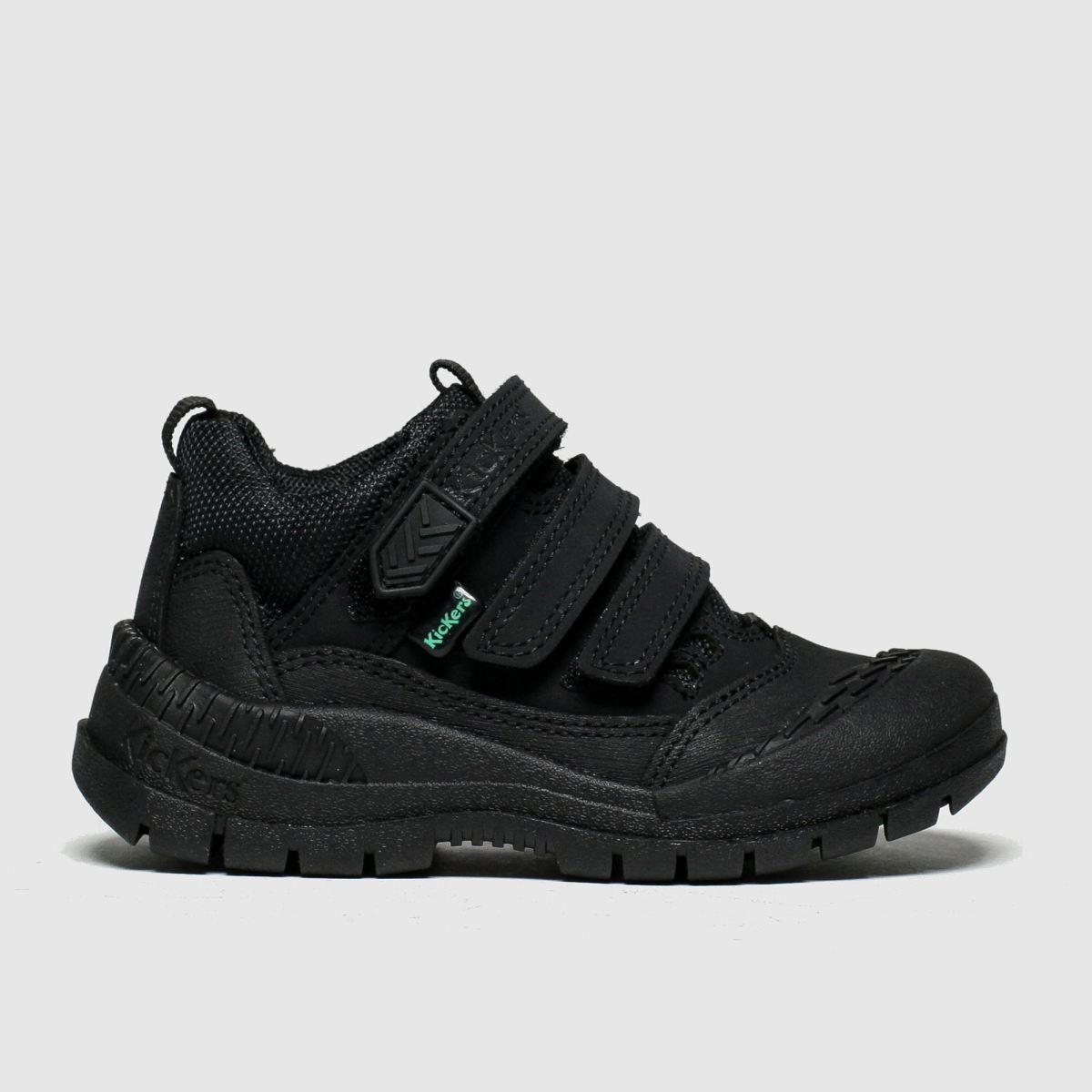 Kickers Black Kick Trukka Mid Shoes Toddler