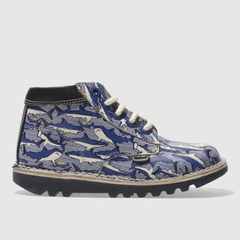 Kickers Navy Kick Hi Joules Boys Toddler