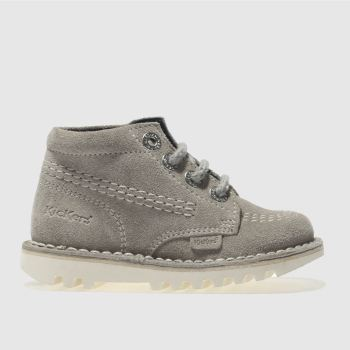 Kickers Grey KICK HI Boys Toddler