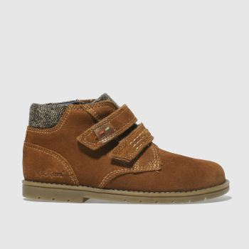 Kickers Tan Orin Twin Boot Boys Toddler