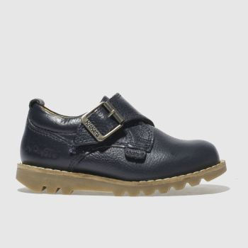 Kickers Navy Kymbo Monk Strap Boys Toddler