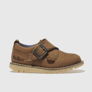 Kickers Tan Kymbo Monk Strap Boys Toddler