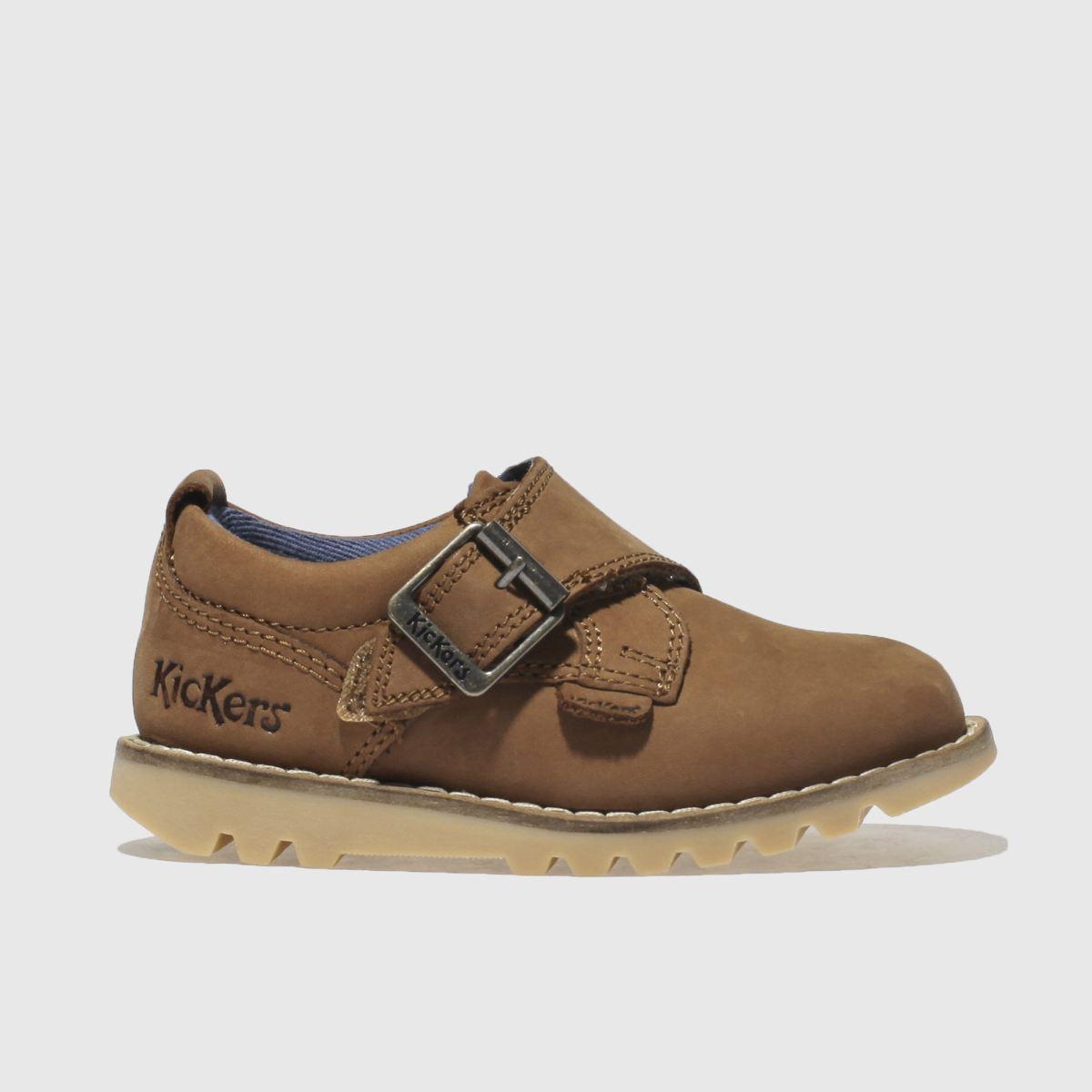 Kickers Tan Kymbo Monk Strap Boots Toddler