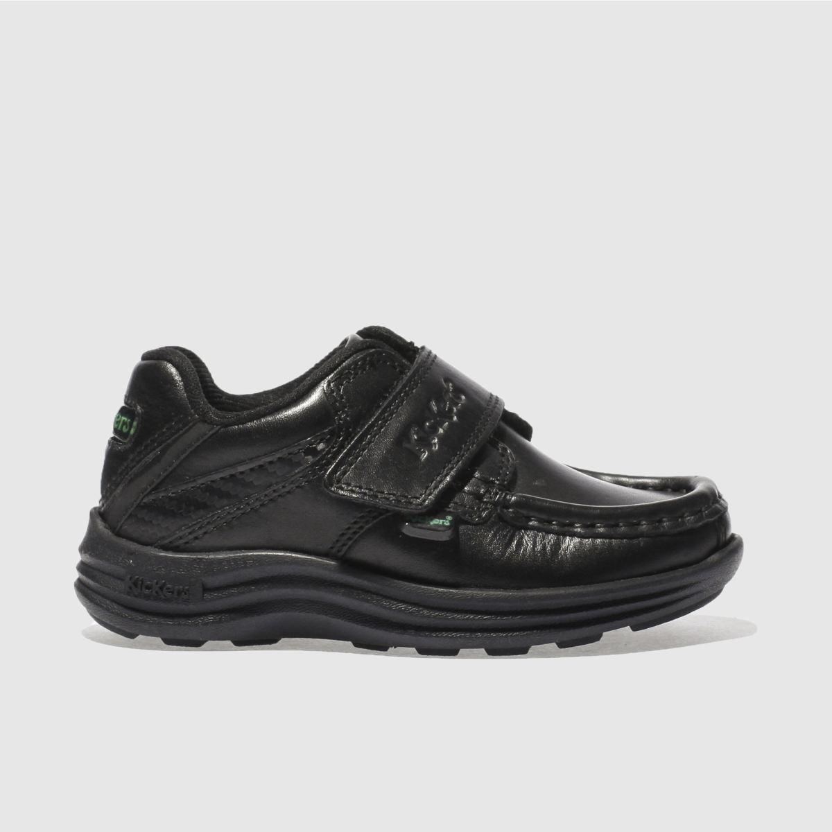 Kickers Black Reasan Strap Shoes Toddler